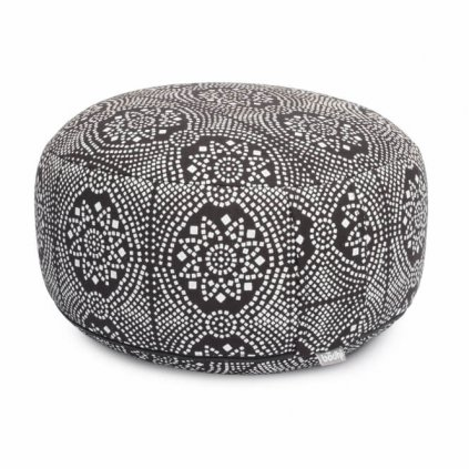 Bodhi Maharaj Rondo meditation cushion Bandhani (black and white)14157/PAL