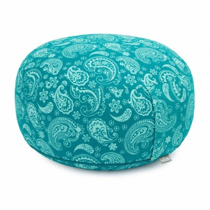 Bodhi Maharaj Rondo meditation cushion Paisley (turquoise)14166/PAL