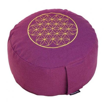 Bodhi Meditation cushion RONDO BASIC Flower of Life 28x17 cm14211/ZEL