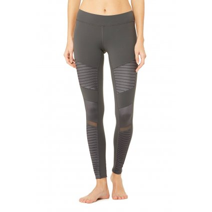 Alo Moto yoga leggings Anthracit Glossy (gray)14247/XS