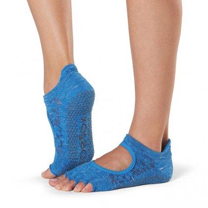 Toesox Halftoe Bellarina Grip anti-slip socks (Lapis)14382/S