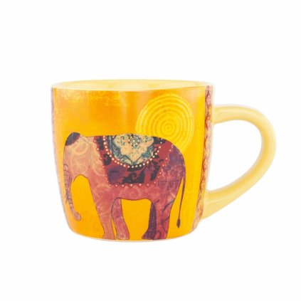 Bodhi Yogi Mug ceramic cup 300 ml ELEPHANT (yellow)198/S229