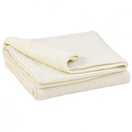 Bodhi ecru cotton blanket 200 x 150 cm14487