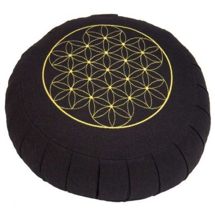 Meditation cushion ZAFU BASIC - Flower of Life (spelled)15063/MOD