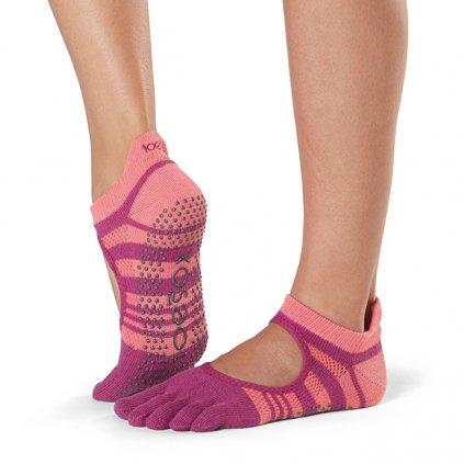 Toesox Fulltone Bellarina Grip anti-slip socks Pop15102/S