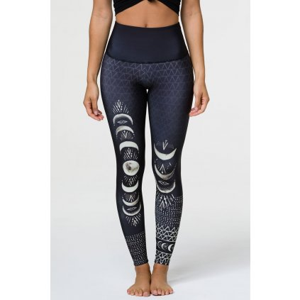 ONZIE High Rise Graphic Leggins - LAS LUNAS15282/S/M