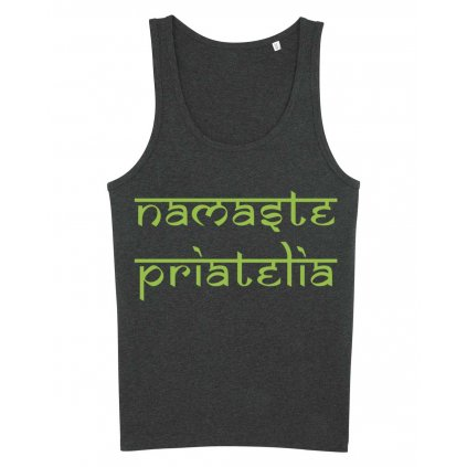 Flexity Yoga Tank Top Men's Tank Top Namaste friends (gray)15333/XS