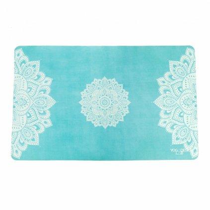 Yoga Hand Towel Design Lab Mandala Turquoise hand towels 38 x 61 cm198/S334