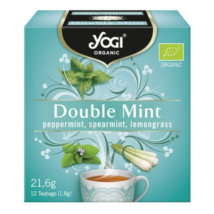 Yogi Tea Ayurvedic Double Mint tea from herbs, spices and fruits BIO 12 × 1.8 g198/S341