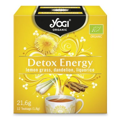 Yogi Tea DETOX ENERGY - Ayurvedic tea from herbs and spices BIO 12 × 1.8 g198/S343