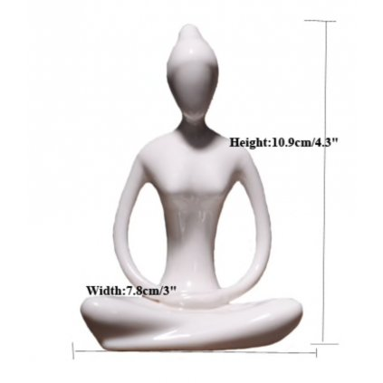 Ermakova porcelain ceramic figurine yoga meditation198/S344