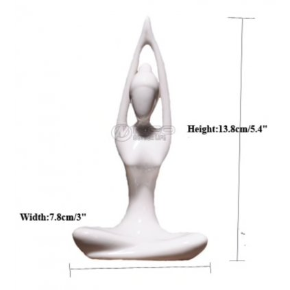 Ermakova porcelain, ceramic yoga figurine Urdhva hasta198/S348