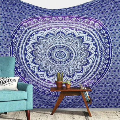 Wall Indian Mandala sheet blue15804/S