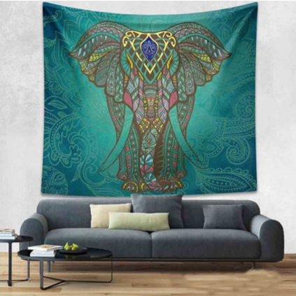 Wall Indian Elephant Elephant green sheet15861/S