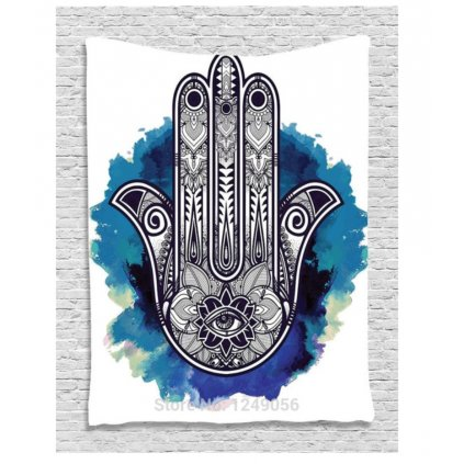 Wall Indian sail Hamsa Hand of Fatima white15864/S