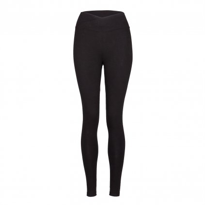ea00a yamadhi basic leggins cross waist black front
