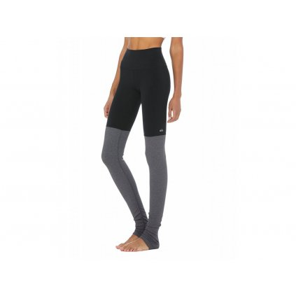 Alo Yoga Goddess Legging Black/Stormy Heather