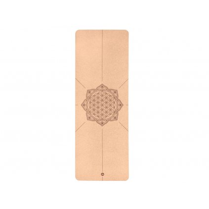 Bodhi Phoenix Yoga mat Cork FLOWER OF LIFE 185 x 66 cm