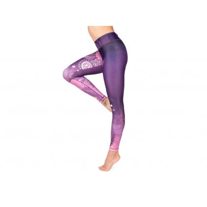 Bodhi Niyama Purple Blossom leggings