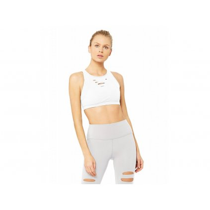 Alo Yoga Ripped Warrior Bra White
