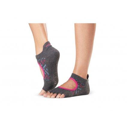 Toesox Halftoe Bellarina Grip non-slip socks Festival