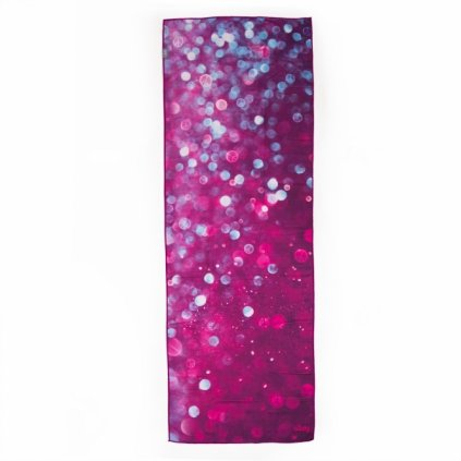Bodhi Yoga towel GRIP Drops of Peace 185 x 65 cm (purple)1659