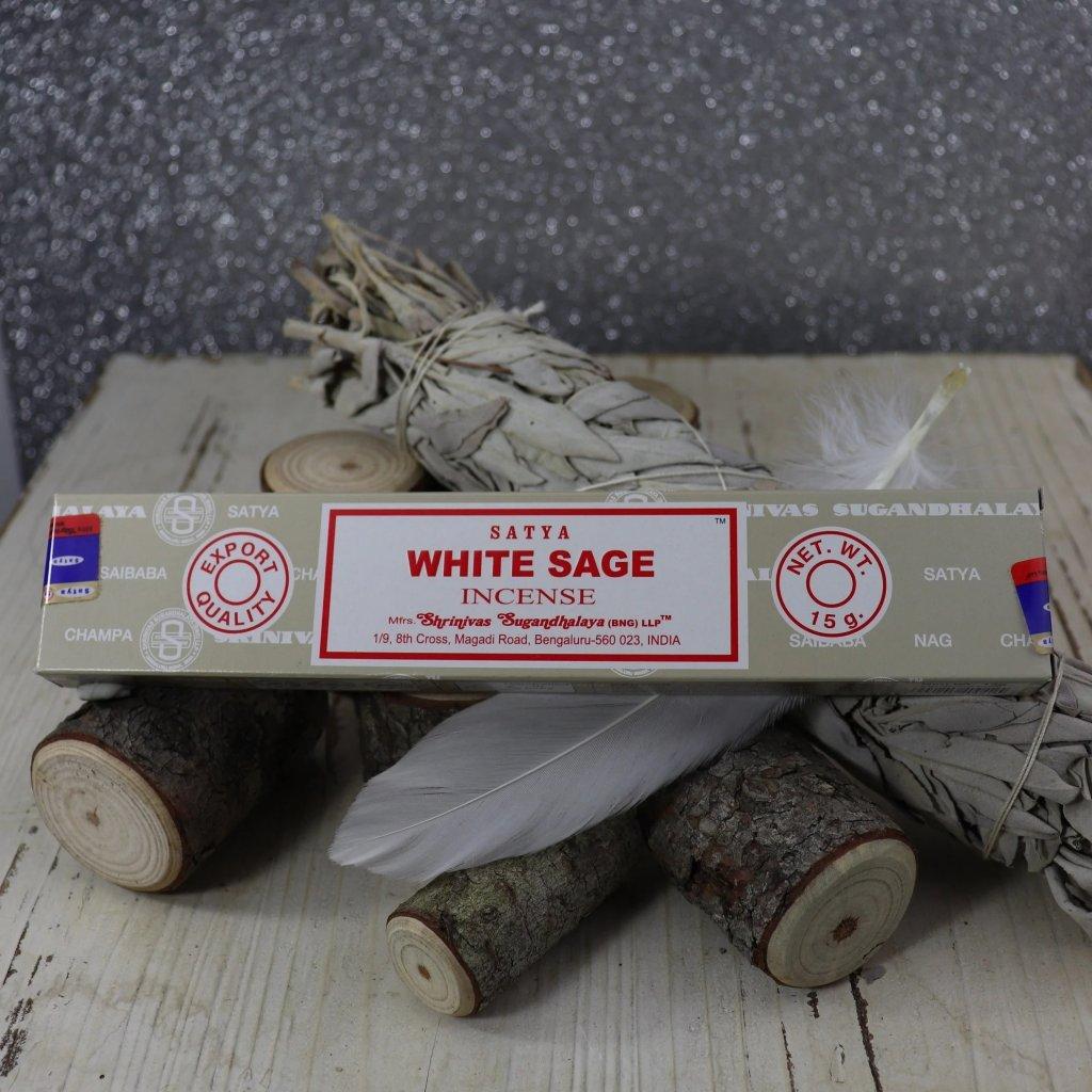 Flexity Satya White Sage (Bílá šalvěj) vonné tyčinky 15 g