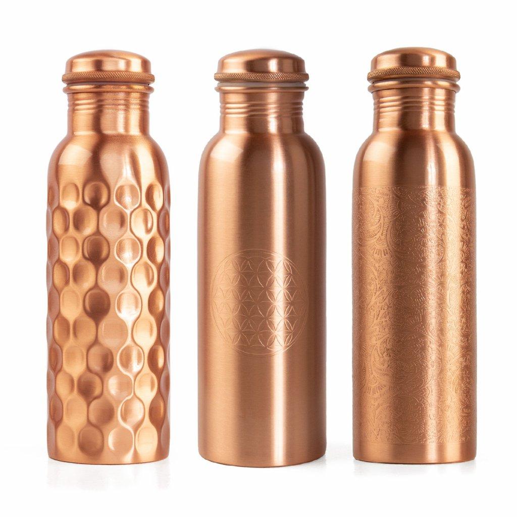 Bodhi měděná láhev 800 ml. 3 vzory