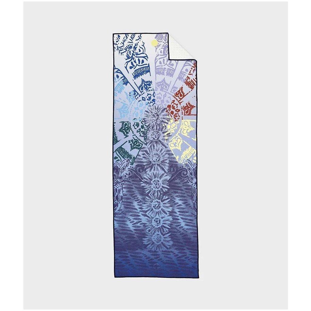MANDUKA yogitoes® jóga ručník - Onyx (černá) (Délka ručníku 182 cm)
