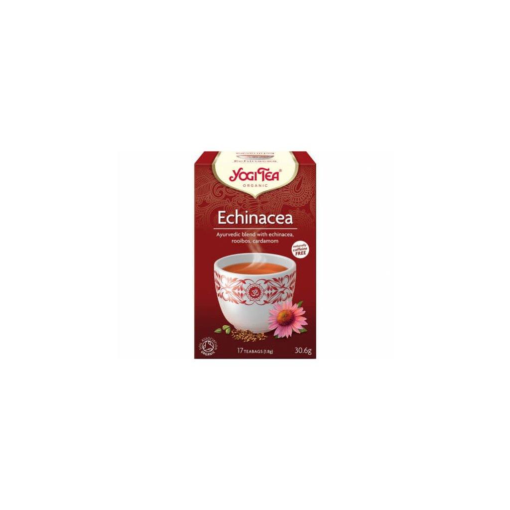 Yogi Tea Echinacea - Ajurvédský bylinný čaj porcovaný BIO 17 × 1,8 g