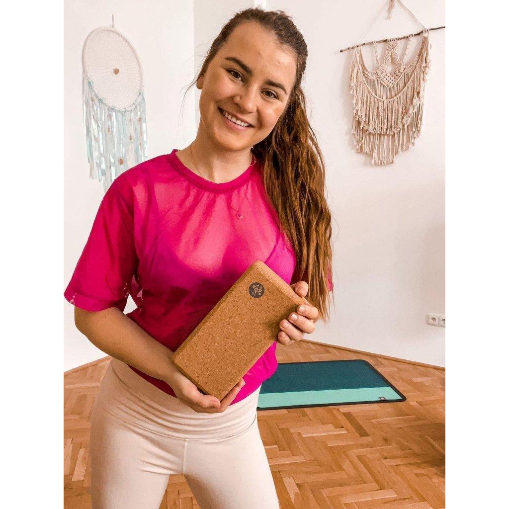 480 5 manduka lean cork joga blok 22 x 11 x 7 cm