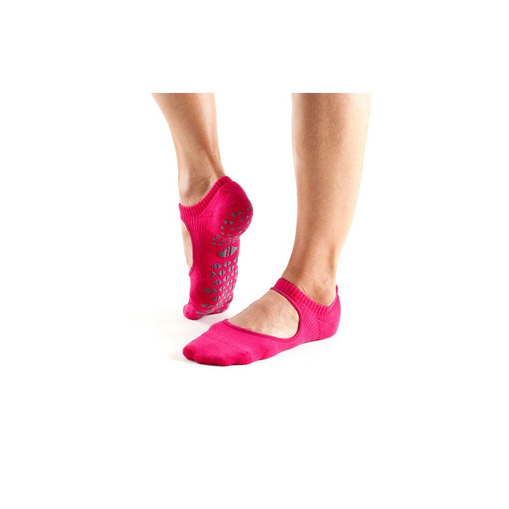 Tavi Noir Grip Socks Chey Magenta protiskluzové ponožky otevřené