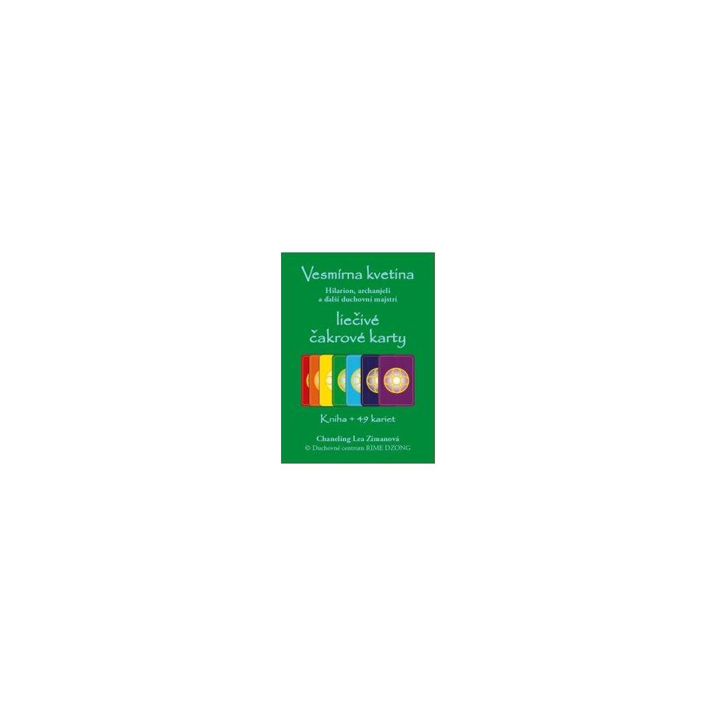 Vesmírná květina - léčivé čakrové karty Hilarion, archandělé a další duchovní mistři. Kniha + 49 karet - Lea Zimanová