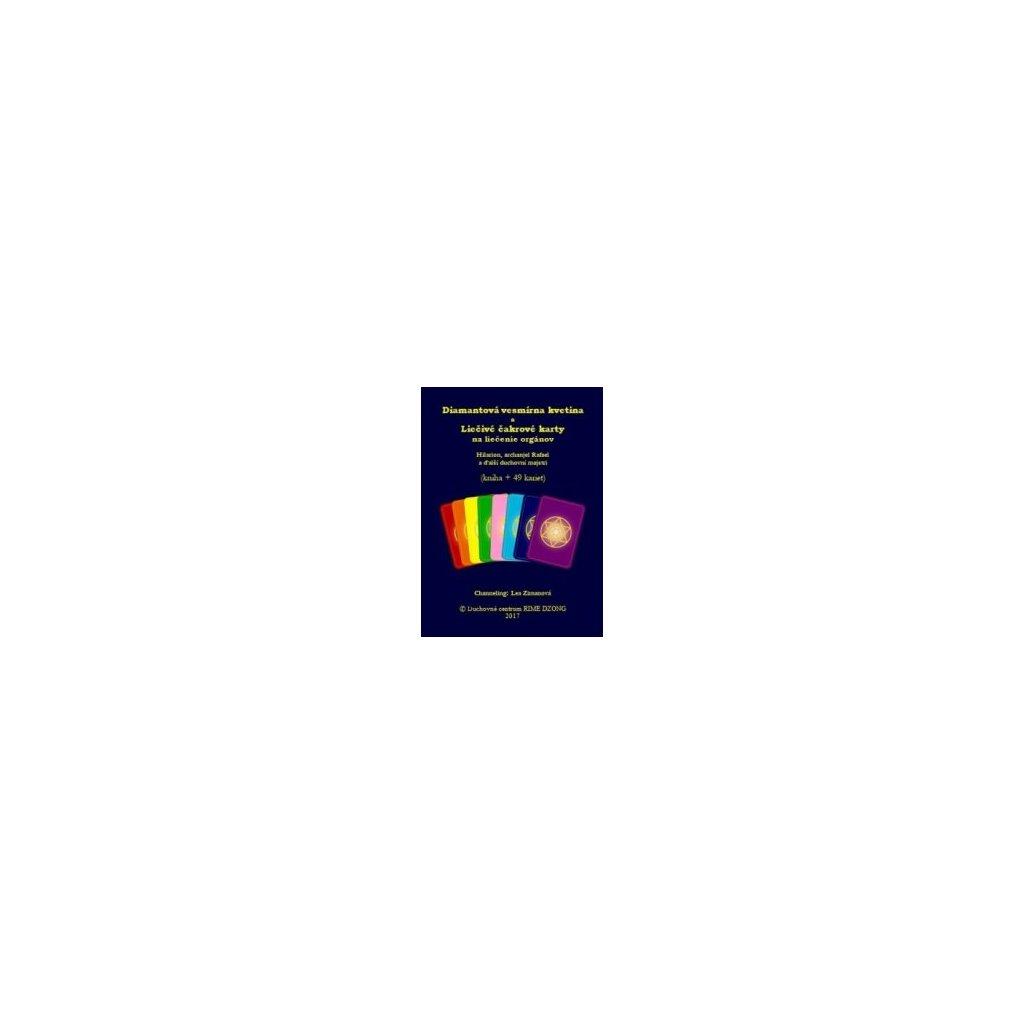 Diamantová vesmírná květina a léčivé čakrové karty na léčení orgánů (kniha + 49 karet) Hilarion, archanděl Rafael a další duchovní mistři - Lea Zimanová