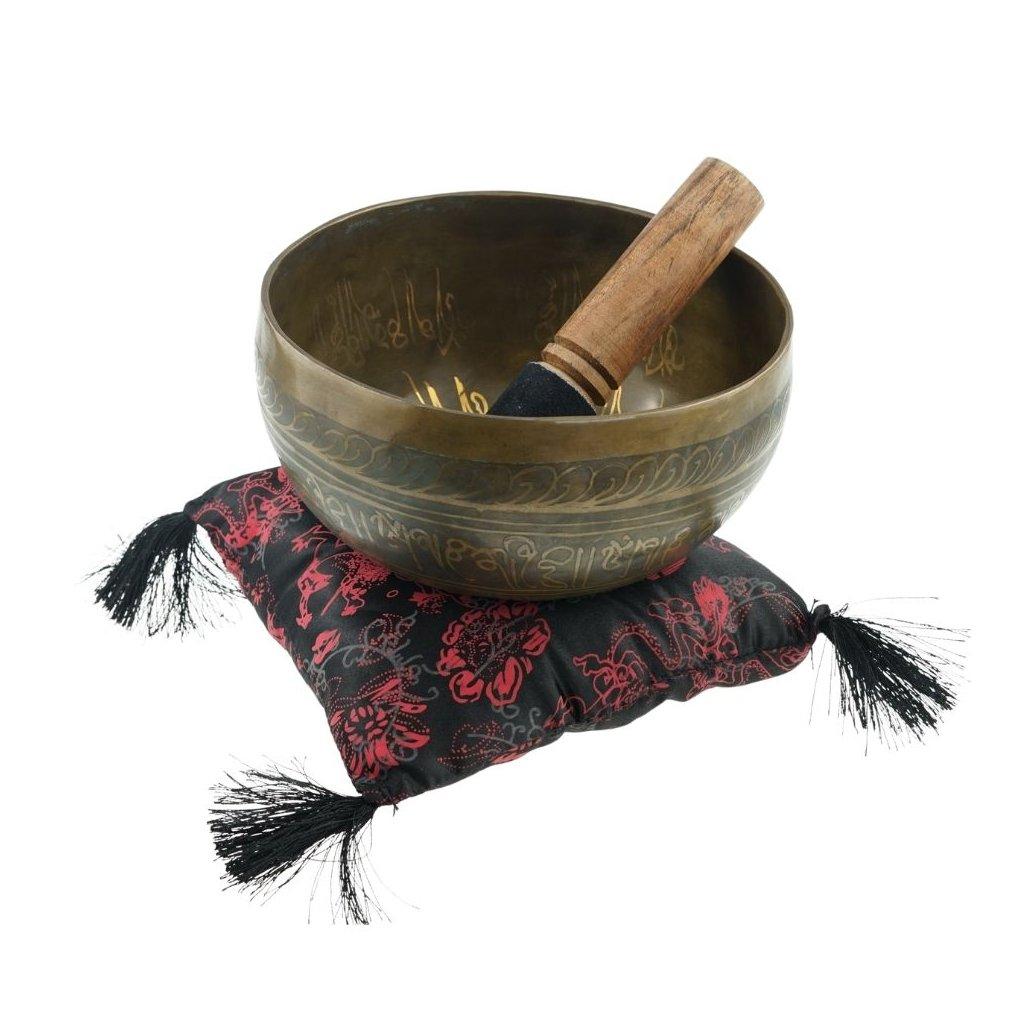 ks16hd meditation handgefertigte klangschale 16 cm mit dekor baum des lebens
