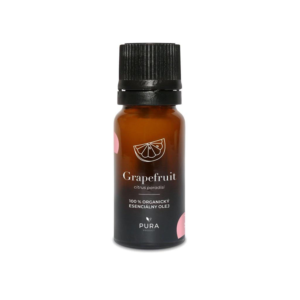PURA 100% čistý organický Esenciální olej Grapefruit 10ml