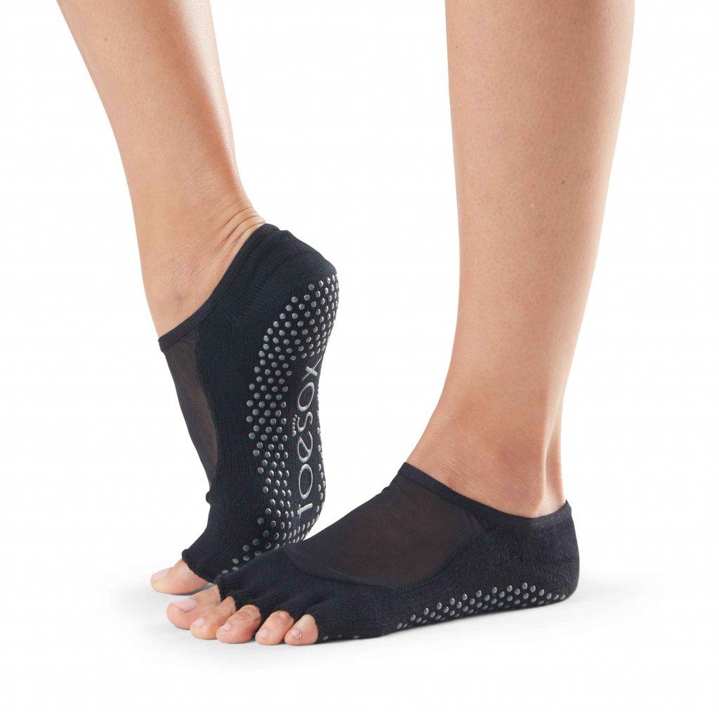 Toesox Halftoe Luna protiskluzové ponožky (černá)