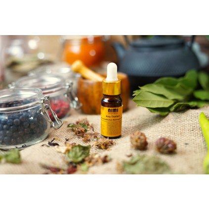 Sree Sankara Anu Thailam ajurvédsky nosní olej pro očistné techniky nosu 10 ml.