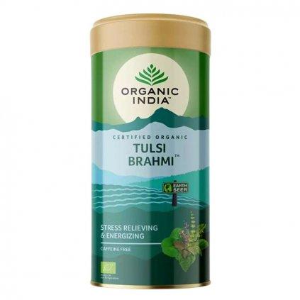Tulsi Brahmi sypaný čaj 100 g Organic India 600x600