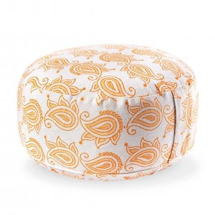 Lotuscrafts meditační polštář Lotus Mehera Paisley 31 x 15 cm dvě barvy náplň špalda