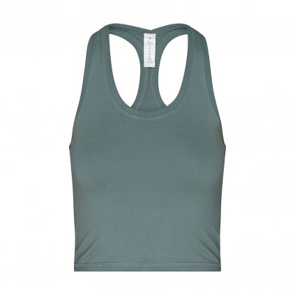 nt024axs tanktop niyama essentials wmn cropped tank racerback dusty turquoise front