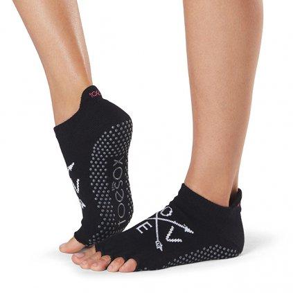 Toesox Halftoe Low rise Grip protiskluzové ponožky (Fate)