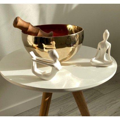 Ermakova porcelánová keramická jóga figurína Dhanuranasana