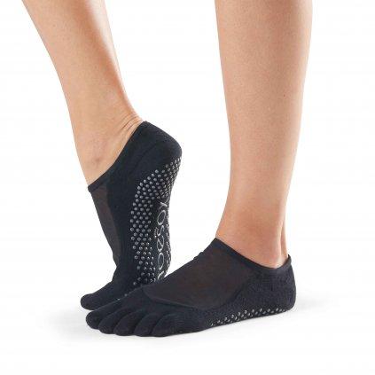 Toesox Fulltoe Luna protiskluzové ponožky (černá)
