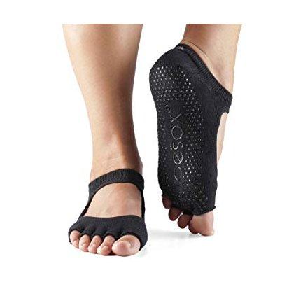 Toesox Halftoe Bella Grip protiskluzové ponožky (černá)