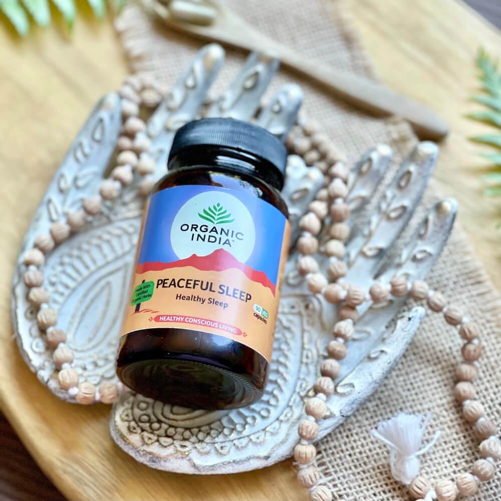 Organic India Peaceful Sleep kapsle 60 ks Zdravý a klidný spánek