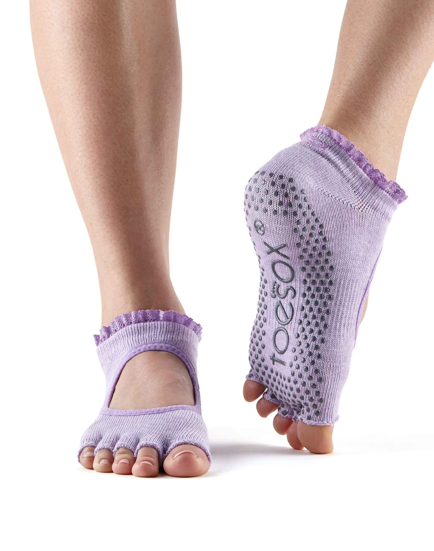 Toesox halftoe Bella Grip protiskluzové ponožky (Blossom Lace) Velikost  M 21e1c49823