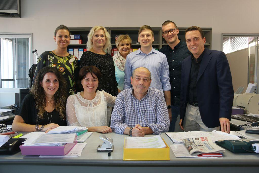 Zakladatel firmy FlexyFlex Bruno Cecconi (uprostřed) společně s obchodním týmem FlexyFlex Itálie a Česká republika.