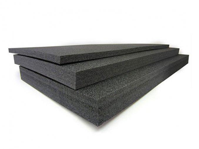 Pěna vysoké hustoty 18mm, tlakový tlumící materiál proti otřesům.