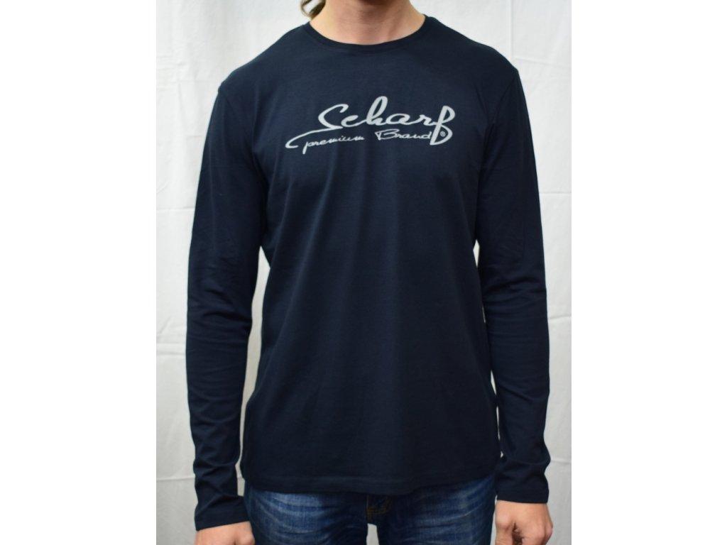 Pánské tričko Scharf s dlouhým rukávem navy